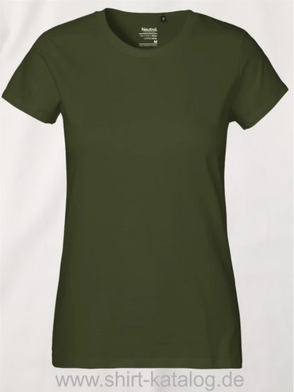 Neutral-Ladies-Classic-T-Shirt-Military-NE80001