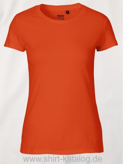 Neutral-Ladies-Classic-T-Shirt-Orange-NE80001