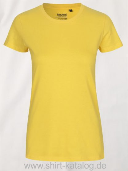 Neutral-Ladies-Classic-T-Shirt-Yellow-NE80001