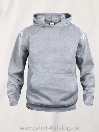 021021-clique-basic-hoody-junior-graumeliert