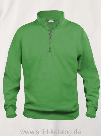 021033-clique-basic-sweatshirt-half-zip-apple-green
