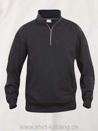 021033-clique-basic-sweatshirt-half-zip-black