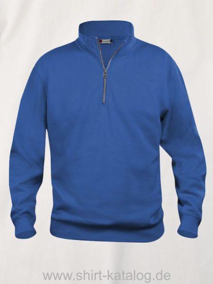 021033-clique-basic-sweatshirt-half-zip-royal-blue