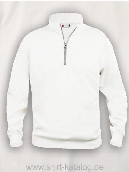 021033-clique-basic-sweatshirt-half-zip-white