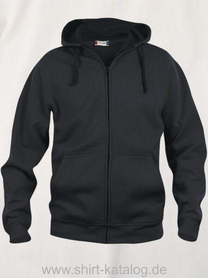 021034-clique-basic-hoody-full-zip-black
