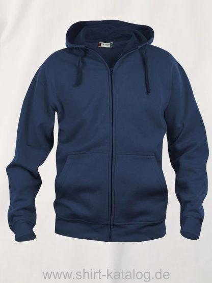 021034-clique-basic-hoody-full-zip-dark-navy