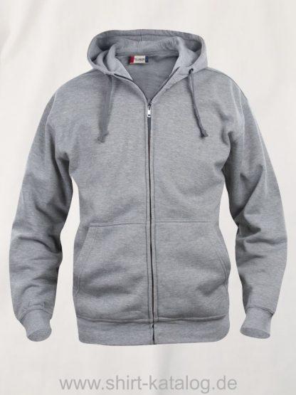 021034-clique-basic-hoody-full-zip-graumeliert