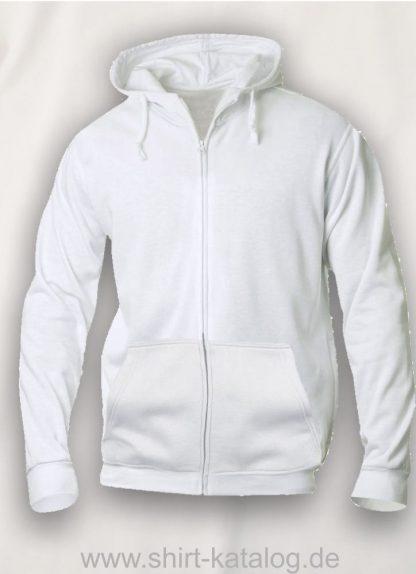 021034-clique-basic-hoody-full-zip-white