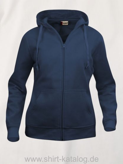 021035-clique-basic-hoody-full-zip-ladies-dark-navy