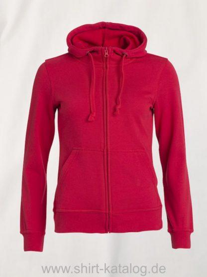 021035-clique-basic-hoody-full-zip-ladies-rot