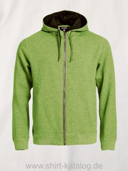 021041-clique-classic-hoody-grün-meliert