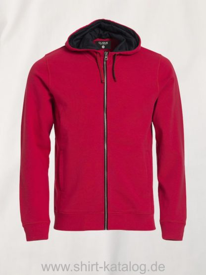 021041-clique-classic-hoody-rot-meliert