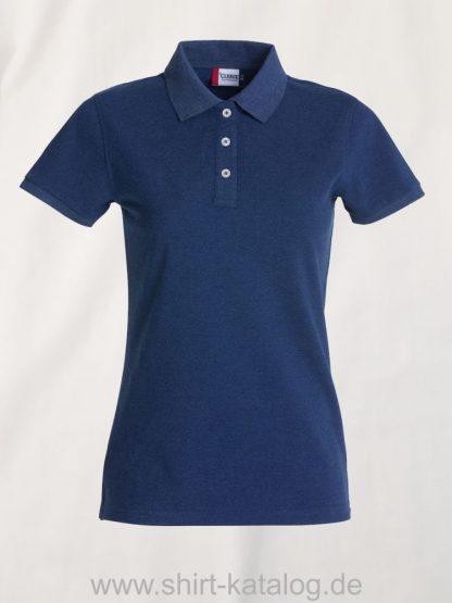 028240-clique-premium-polo-blue-melange