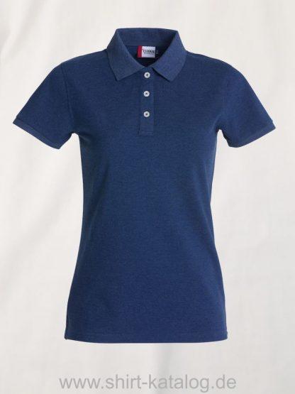 028241-clique-premium-polo-ladies-blue-melange