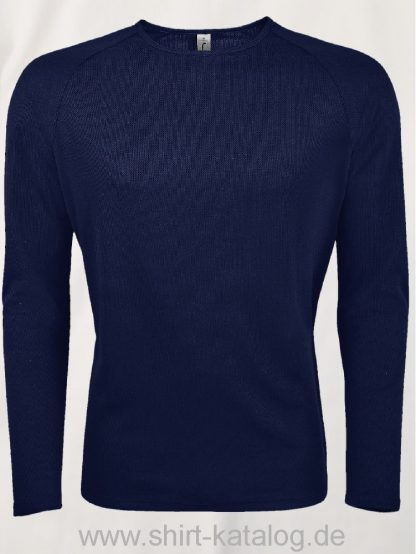 11521-Sols-Men-Long-Sleeve-Sports-T-Shirt-Sporty-French-Navy