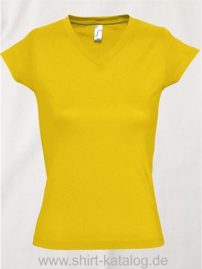 11645-Sols-Ladies-V-Neck-T-Shirt-Moon-Gold