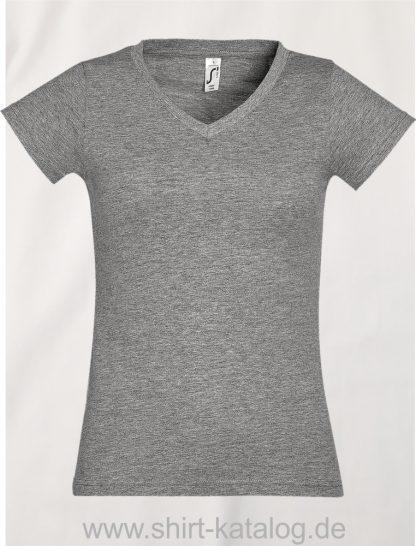 11645-Sols-Ladies-V-Neck-T-Shirt-Moon-Grey-Melange