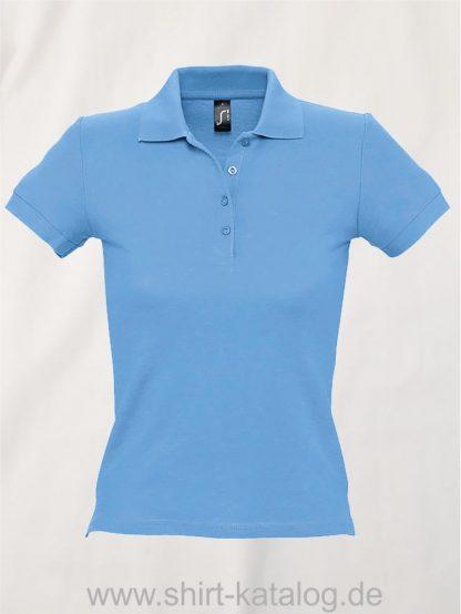 16876-Sols-Ladies-Basic-Poloshirt-Baumwolle-atoll-blue