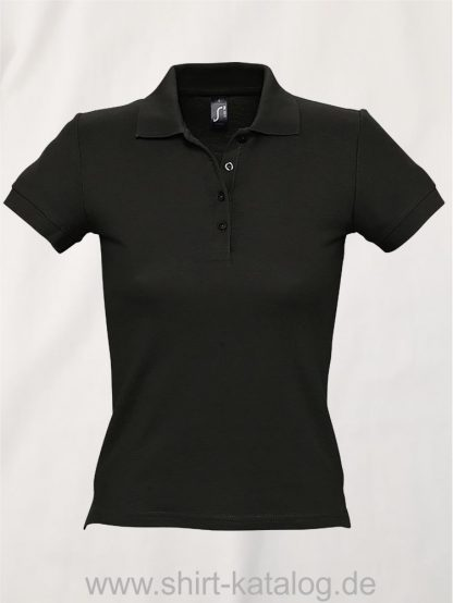 16876-Sols-Ladies-Basic-Poloshirt-Baumwolle-black