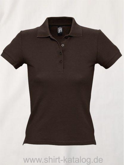 16876-Sols-Ladies-Basic-Poloshirt-Baumwolle-chocolate