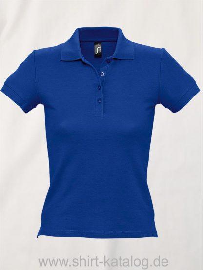 16876-Sols-Ladies-Basic-Poloshirt-Baumwolle-royal-blue
