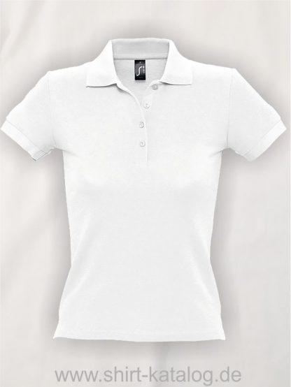 16876-Sols-Ladies-Basic-Poloshirt-Baumwolle-white