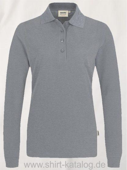 18183-Women-Longsleeve-Poloshirt MIKRALINAR-215-graumeliert