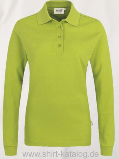 18183-Women-Longsleeve-Poloshirt MIKRALINAR-215-kiwi