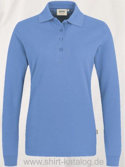 18183-Women-Longsleeve-Poloshirt MIKRALINAR-215-malibublau