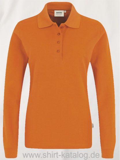18183-Women-Longsleeve-Poloshirt MIKRALINAR-215-orange