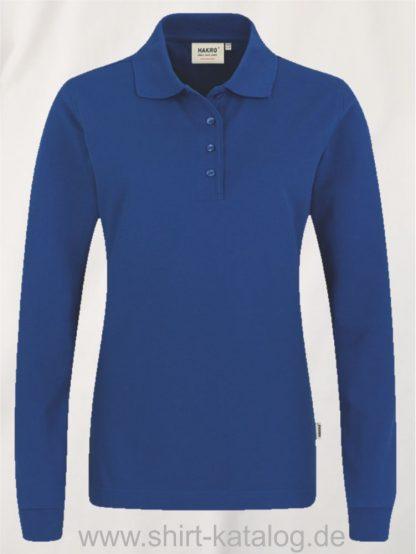 18183-Women-Longsleeve-Poloshirt MIKRALINAR-215-royal