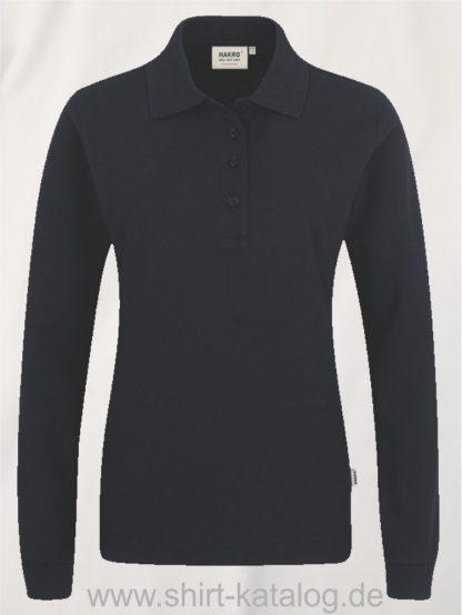 18183-Women-Longsleeve-Poloshirt MIKRALINAR-215-schwarz