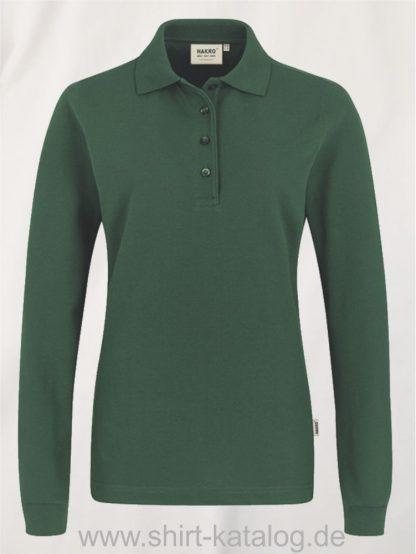 18183-Women-Longsleeve-Poloshirt MIKRALINAR-215-smaragd