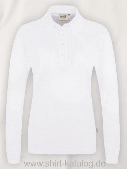 18183-Women-Longsleeve-Poloshirt MIKRALINAR-215-white