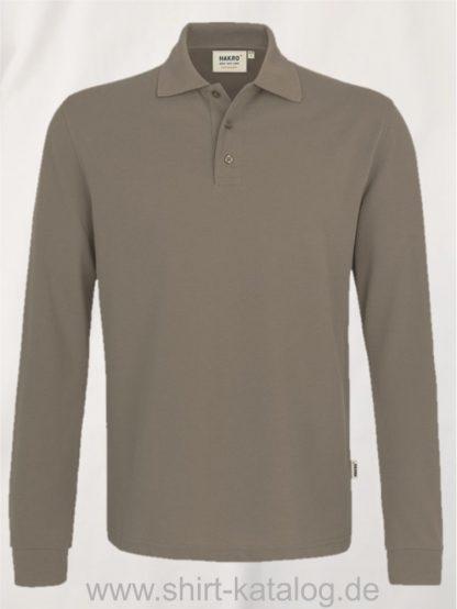 18217-Longsleeve-Poloshirt MIKRALINAR-815-nougat