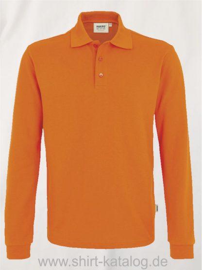 18217-Longsleeve-Poloshirt MIKRALINAR-815-orange