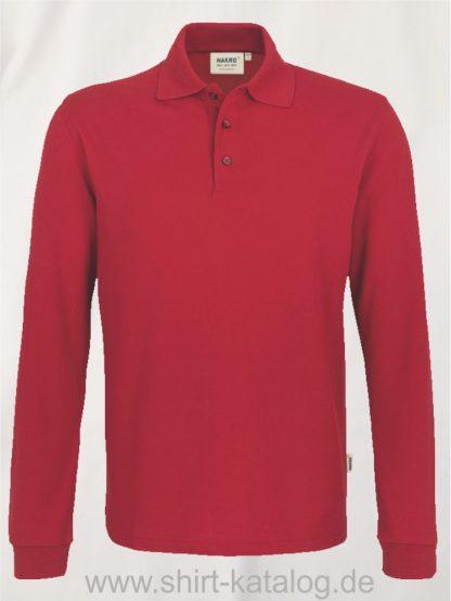 18217-Longsleeve-Poloshirt MIKRALINAR-815-rot
