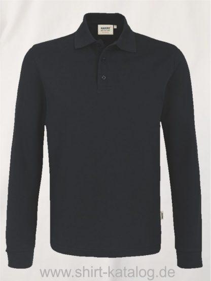 18217-Longsleeve-Poloshirt MIKRALINAR-815-schwarz