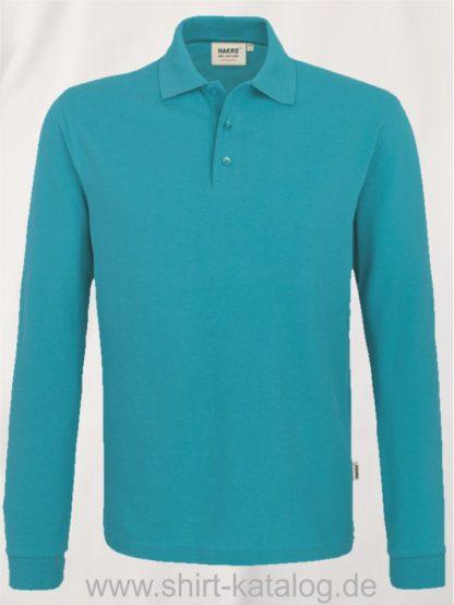 18217-Longsleeve-Poloshirt MIKRALINAR-815-smaragd