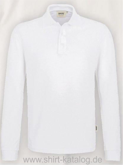 18217-Longsleeve-Poloshirt MIKRALINAR-815-weiss