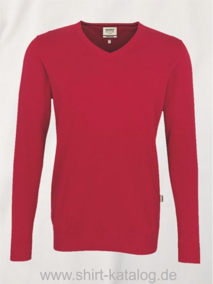 18385-hakro-v-pullover-premium-cotton-143-rot