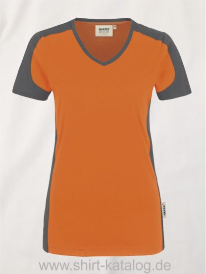 21327-hakro-women-v-shirt-contrast-mikralinar-190-orange-anthrazit