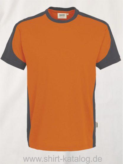 21328-hakro-t-shirt-contrast-mikralinar-contrast-290-orange-anthrazit