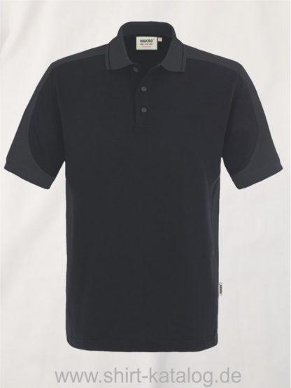 21333-Hakro-Poloshirt-Contrast MIKRALINAR-839-black