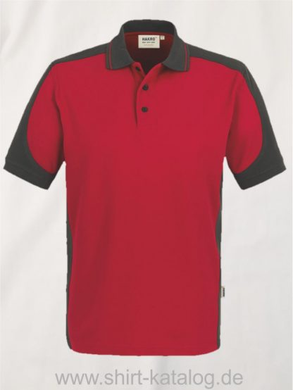 21333-Hakro-Poloshirt-Contrast MIKRALINAR-839-rot