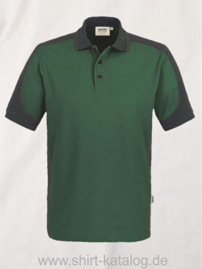 21333-Hakro-Poloshirt-Contrast MIKRALINAR-839-tanne