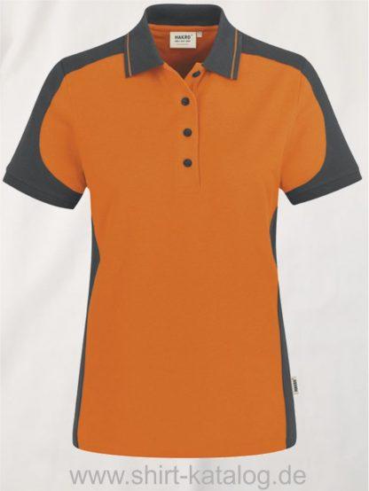 22297-hakro-Women-Poloshirt-Contrast MIKRALINAR-239-orange