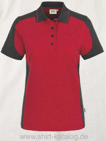 22297-hakro-Women-Poloshirt-Contrast MIKRALINAR-239-rot