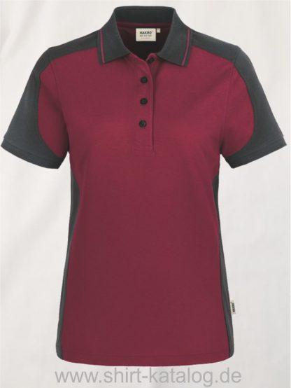22297-hakro-Women-Poloshirt-Contrast MIKRALINAR-239-weinrot