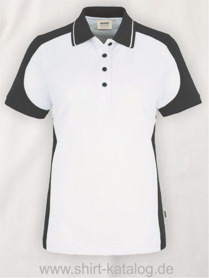 22297-hakro-Women-Poloshirt-Contrast MIKRALINAR-239-white